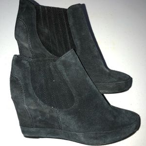 Women's size 8 7 for all mankind wedge boots